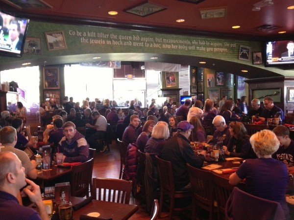 Wildcat fans gather at the Tilted Kilt in Phoenix for the 2013 Fiesta Bowl.